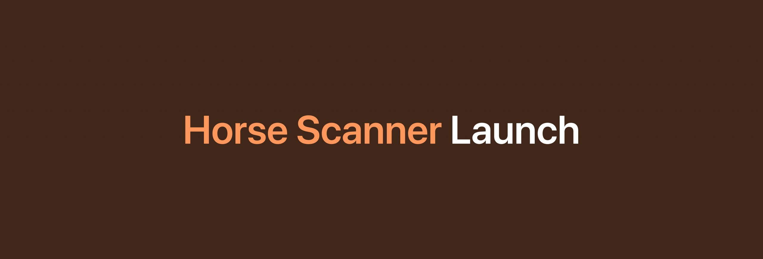 New app Horse Scanner launched