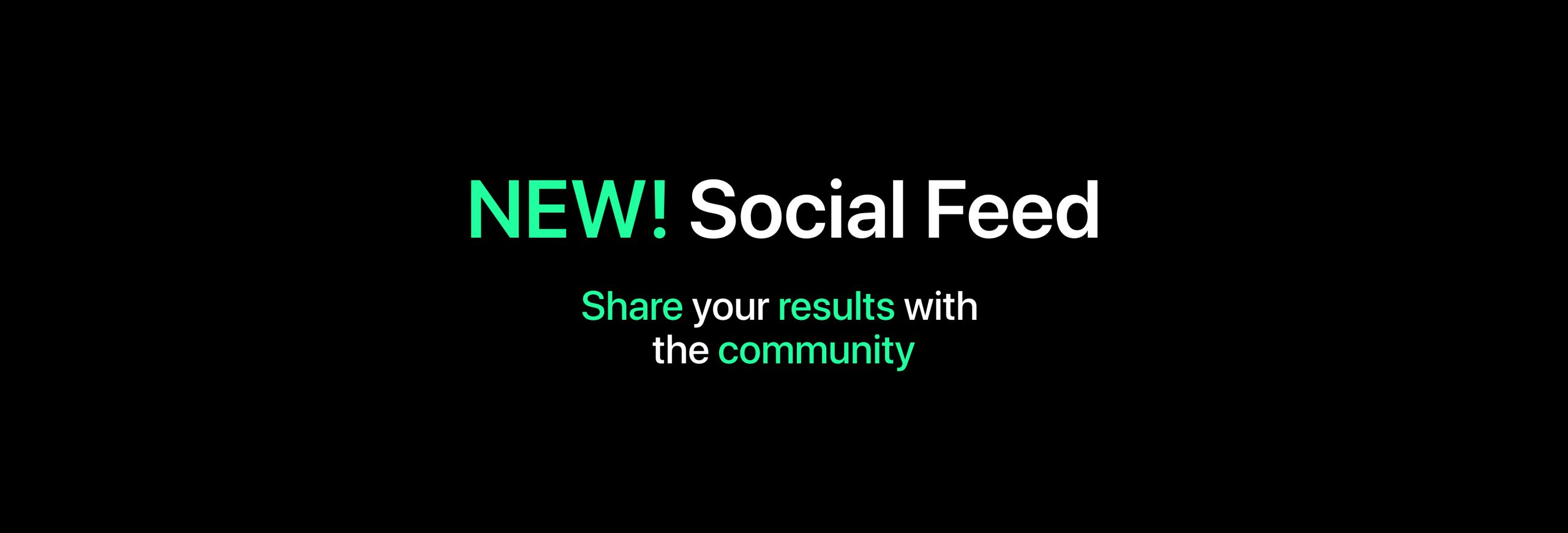 Share results with the community